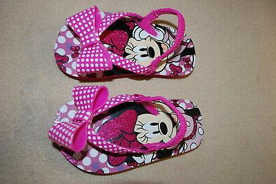 baby toddler girls minnie mouse flip flops