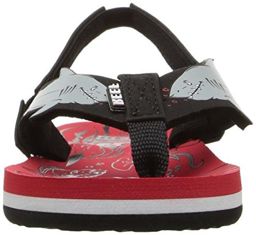 Reef Boys' AHI Sandal, red 2-3 Medium