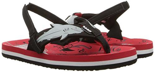 Reef AHI Sandal, red 2-3 Medium US Kid