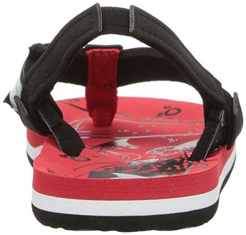 Reef Boys' AHI Sandal, red Shark, 2-3 US Little