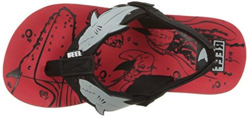 Reef Boys' red Shark, 2-3 Medium US Kid