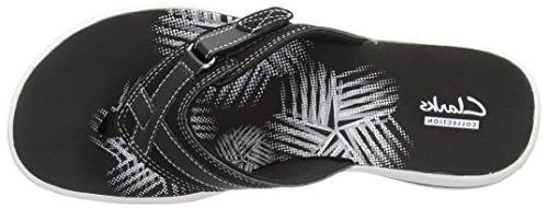 Clarks Women's Breeze Flip Synthetic,