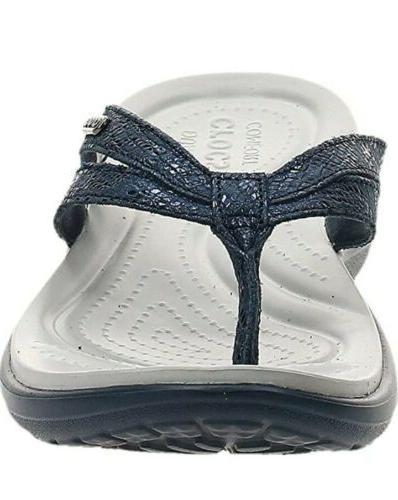 Crocs Flip Flops Sandals blue size