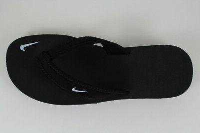 NIKE CELSO GIRL THONG BLACK/WHITE FLOPS SANDALS WATER US SIZES