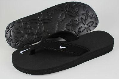 celso girl thong black white flip flops