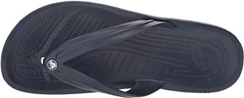 crocs Unisex Crocband Flip-Flop, Navy, 7 US Men /