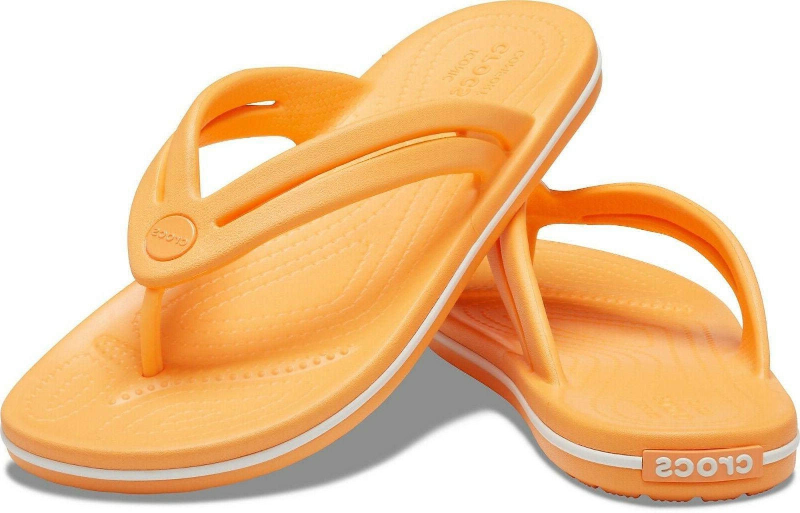 crocband flip flops cantaloupe size 11 new