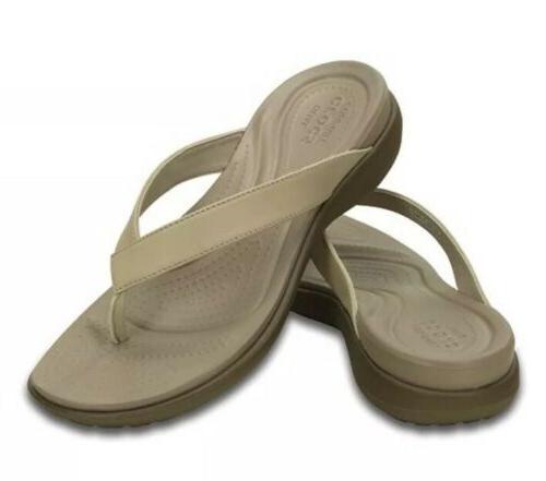 crocs capri v womens dual comfort tan