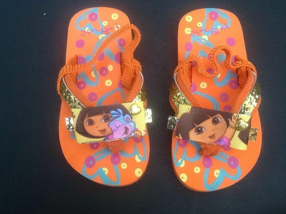 dora the explorer toddler flip flops