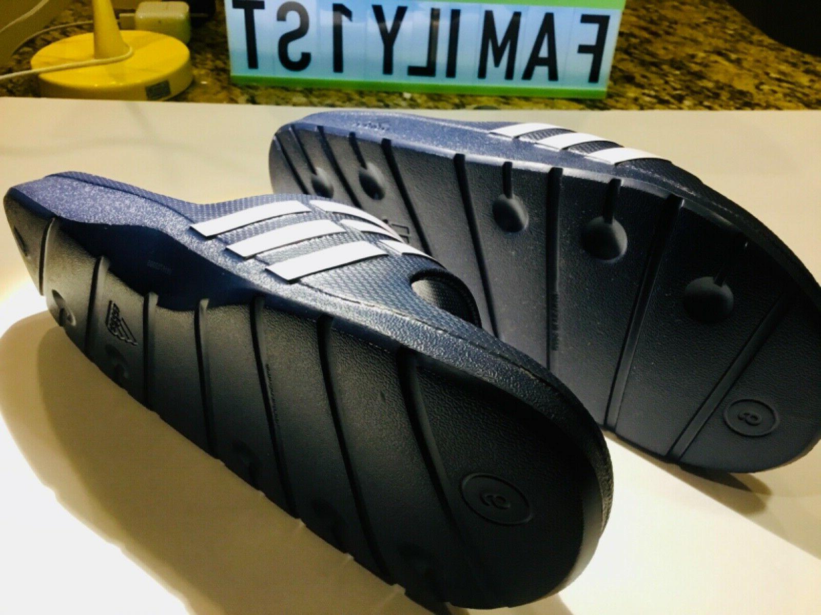 Adidas Duramo Slides Sandals Flip Flops Beach Wear Navy