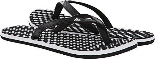 adidas Women's Dots W Sandal,White/Black/Black,10 M US