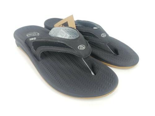 flex men s sandals flip flop black