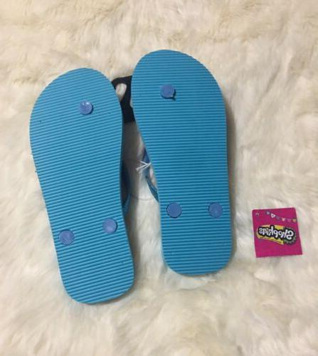 Shopkins Flops Blue Size 2 /