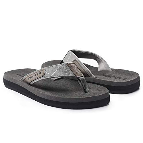 FITORY Men's Sandals Comfort for Beach Size 7-13 Grey)