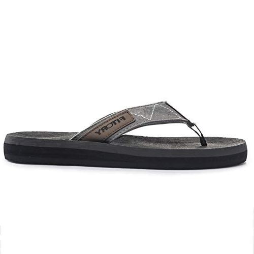 FITORY Sandals for Beach Grey)