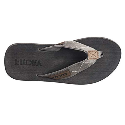 FITORY Men's Sandals Slippers for Beach Grey)