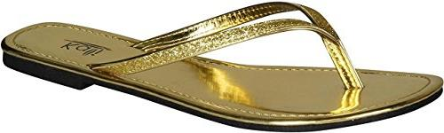 focus glitter flip flops
