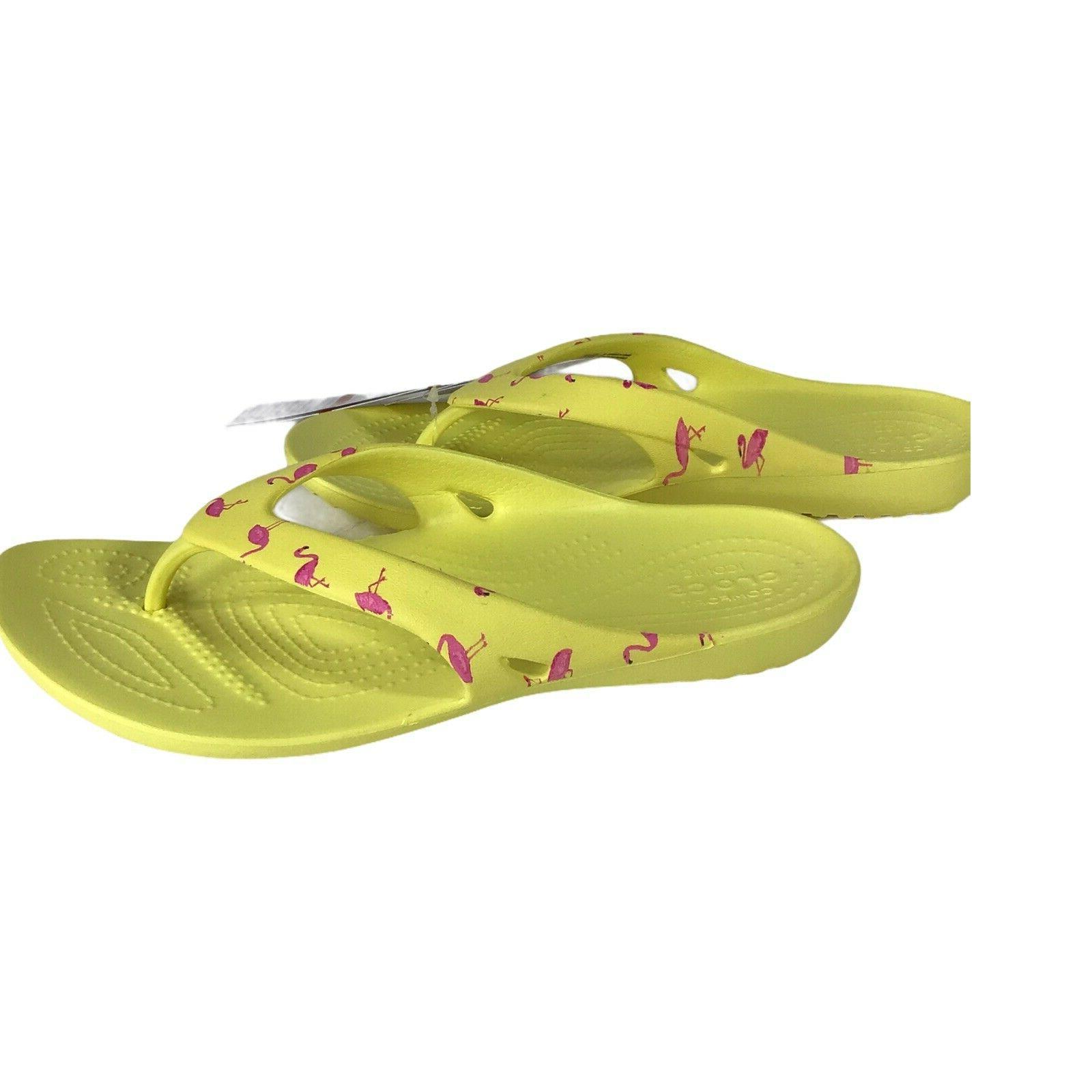 kadee ii seasonal graphic flip flops yellow