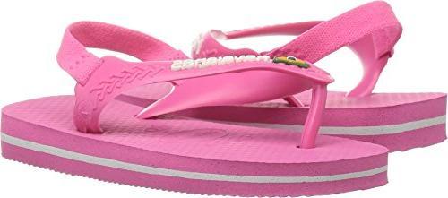 kids flip flop sandal brazil logo