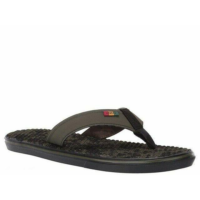 Vans La Lite Flip Flops Men's 9-13 Rasta Thong Sandal