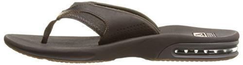 Reef Leather Sandal, Brown, 11 US