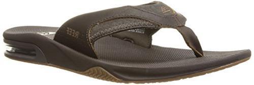 leather fanning sandal