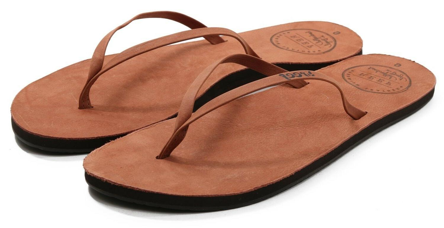 Reef LEATHER Cocoa Leather Flip Discount