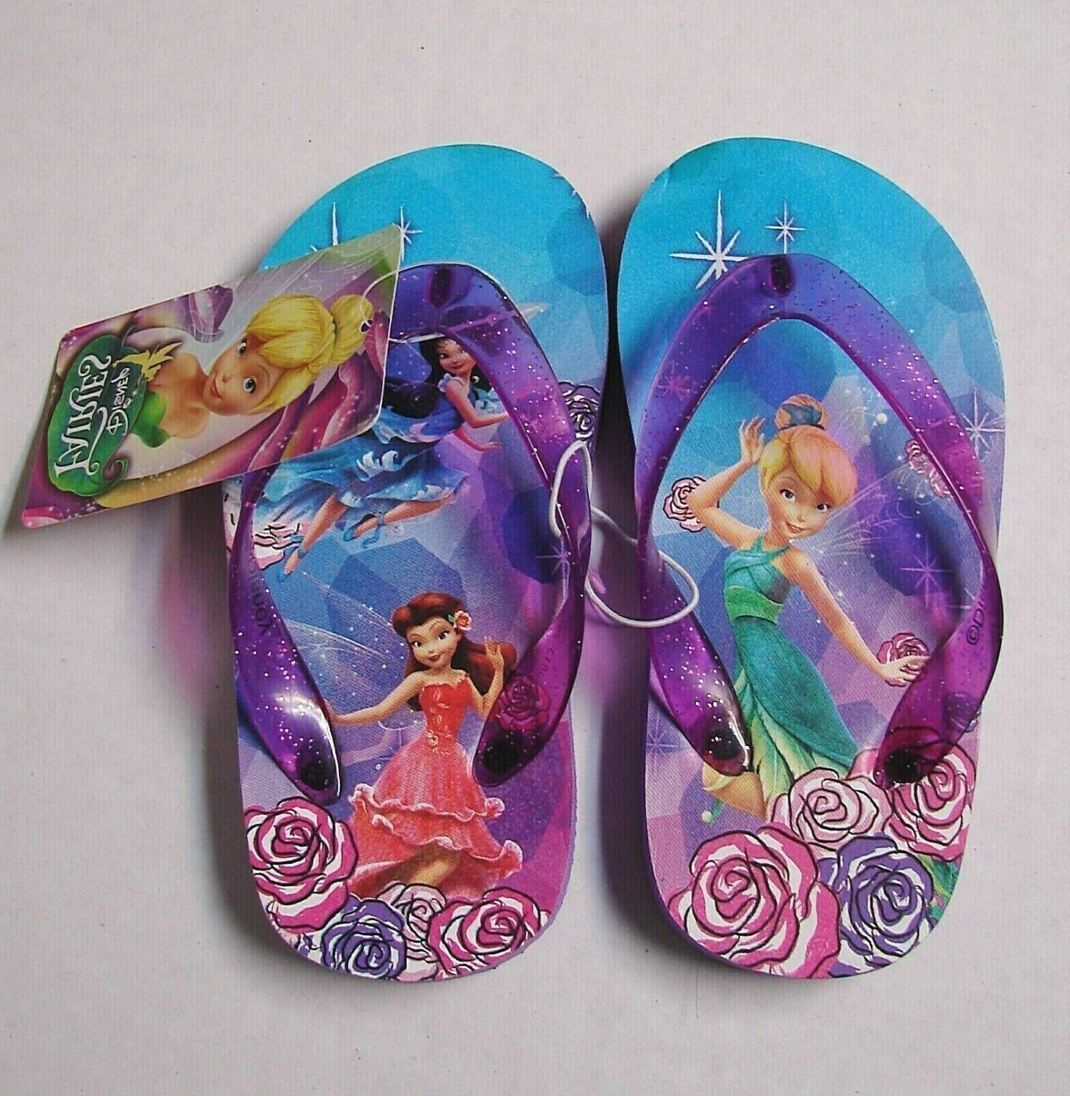 little girls tinkerbell fairies flip flops childs
