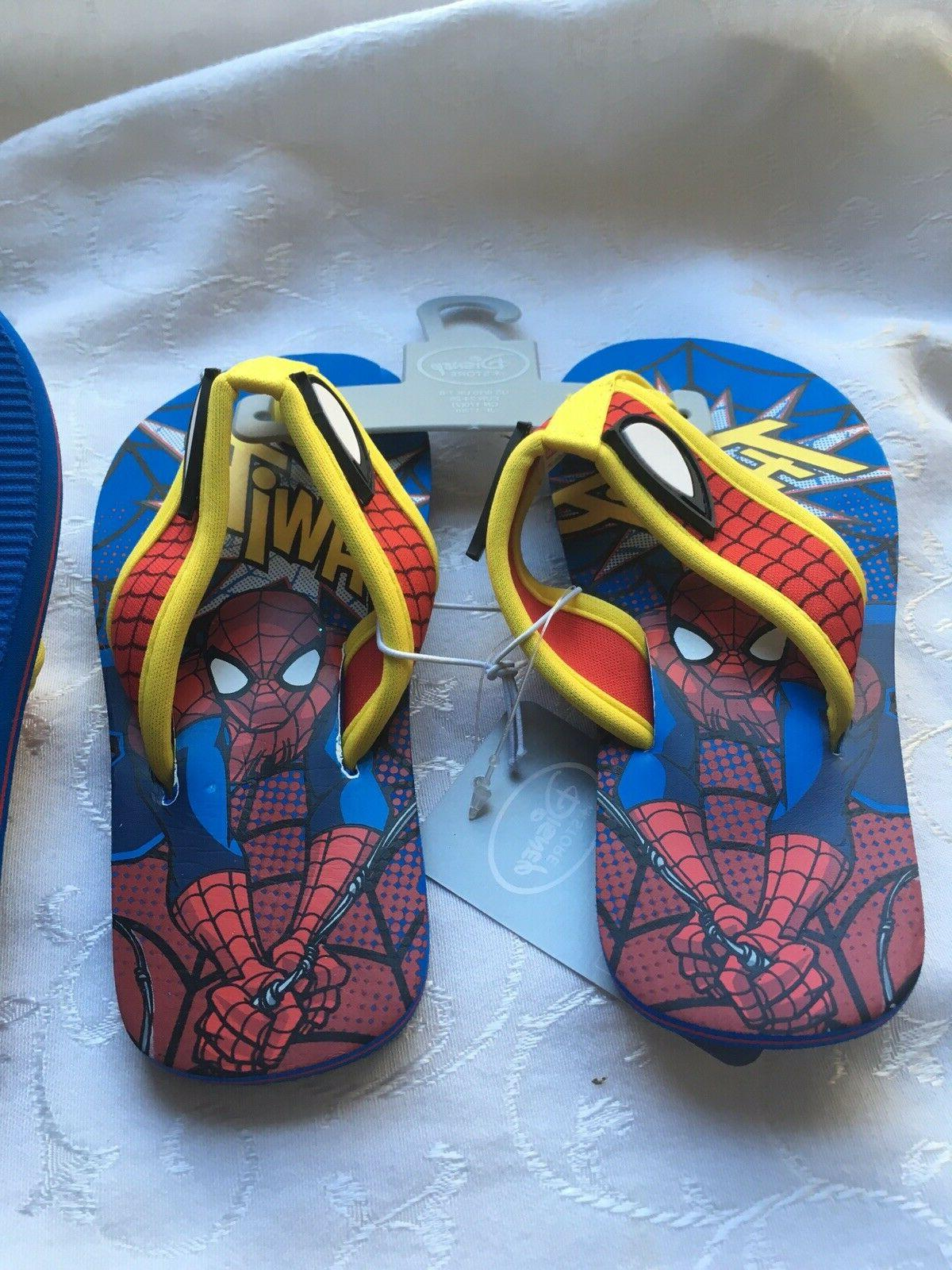 marvel spiderman kids flip flops thongs sandals