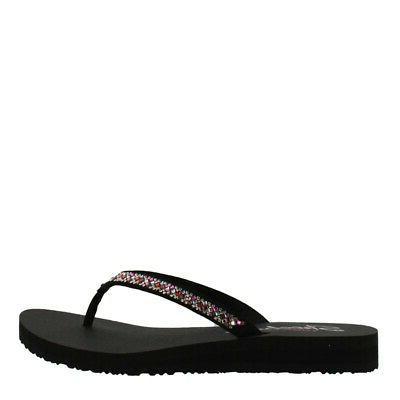 Skechers Meditation Perfect Sandal Womens Flip Flops Shoes Flat