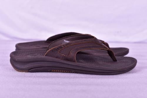 Men's le Slide Flops, Dark Brown