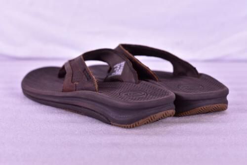 Men's Slide Flip Flops, Brown