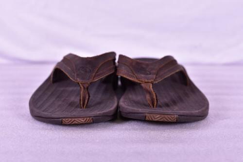 Men's Flex Slide Flops, Dark Brown