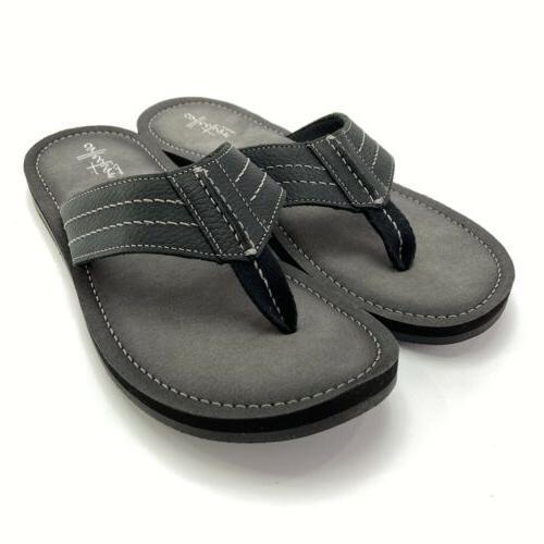 Clarks Black Leather Flops Size