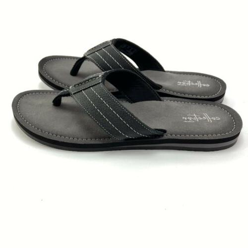 Clarks Men's Black Leather Sandal Flops Size 12