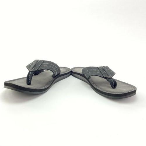 Clarks Men's Lacono Black Leather Sandal Flops