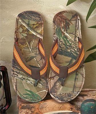 men s outdoor flip flops realtree camo