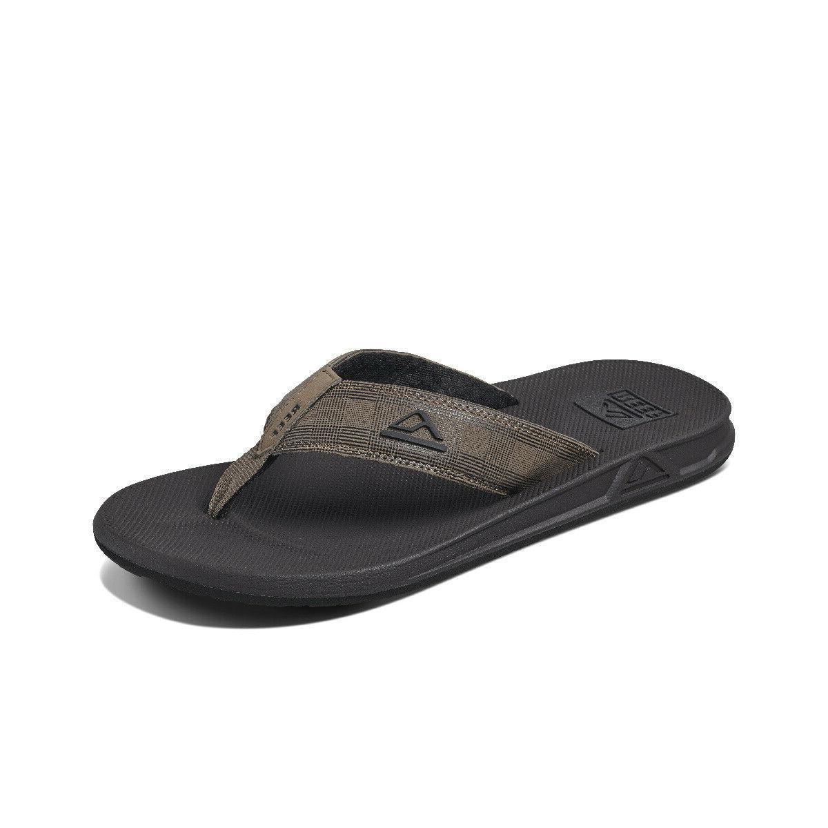 men s phantom prints flip flops tan