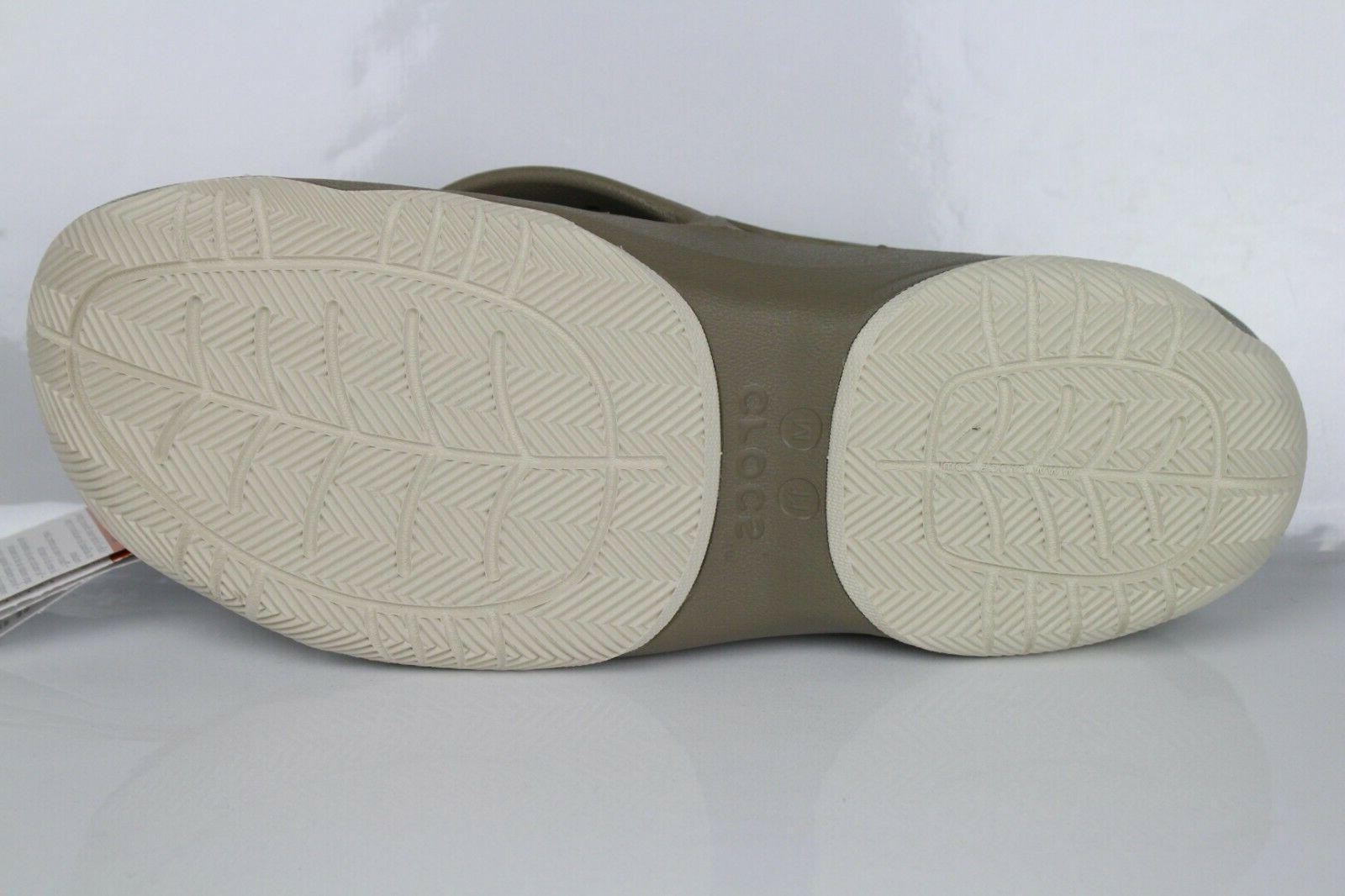 Crocs Men's Deck Flip Flops Khaki
