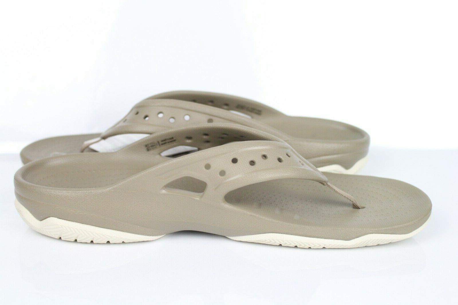 Crocs Deck Flip Flops Khaki 204961