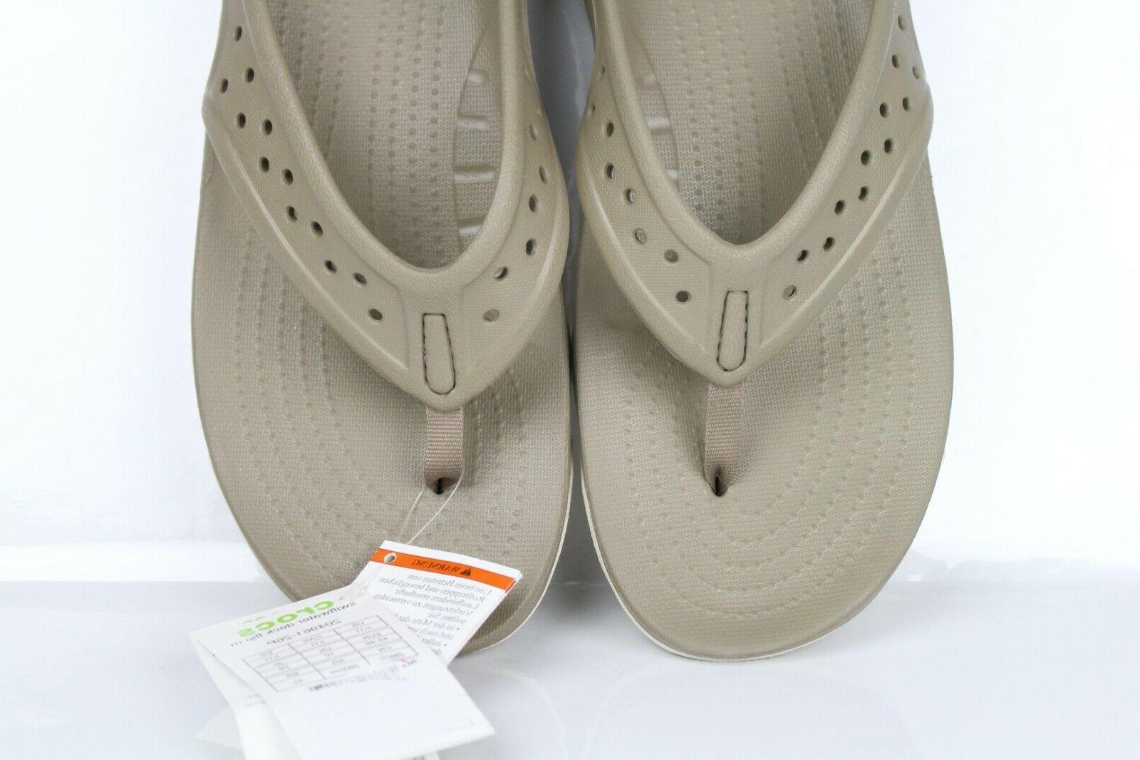Crocs Deck Flip Size Khaki 204961 26P