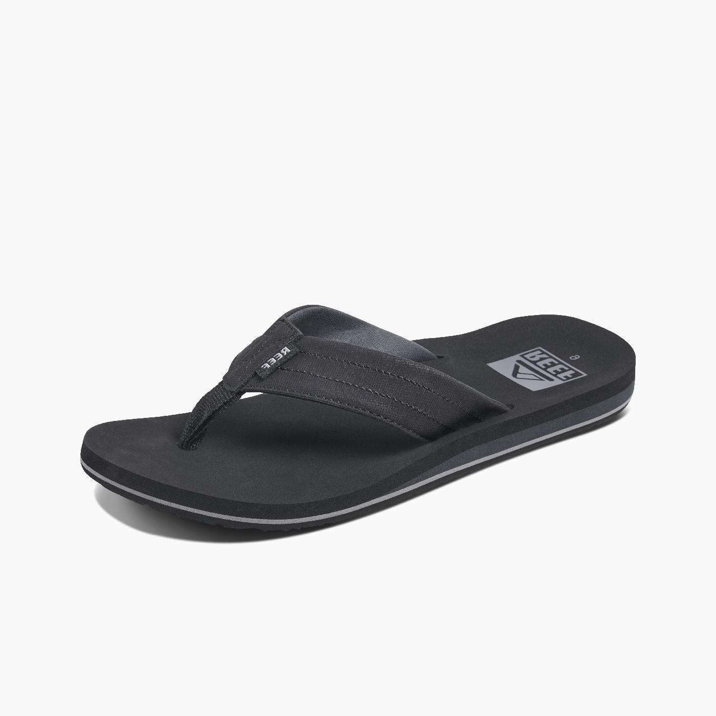 men s twinpin lux flip flops black