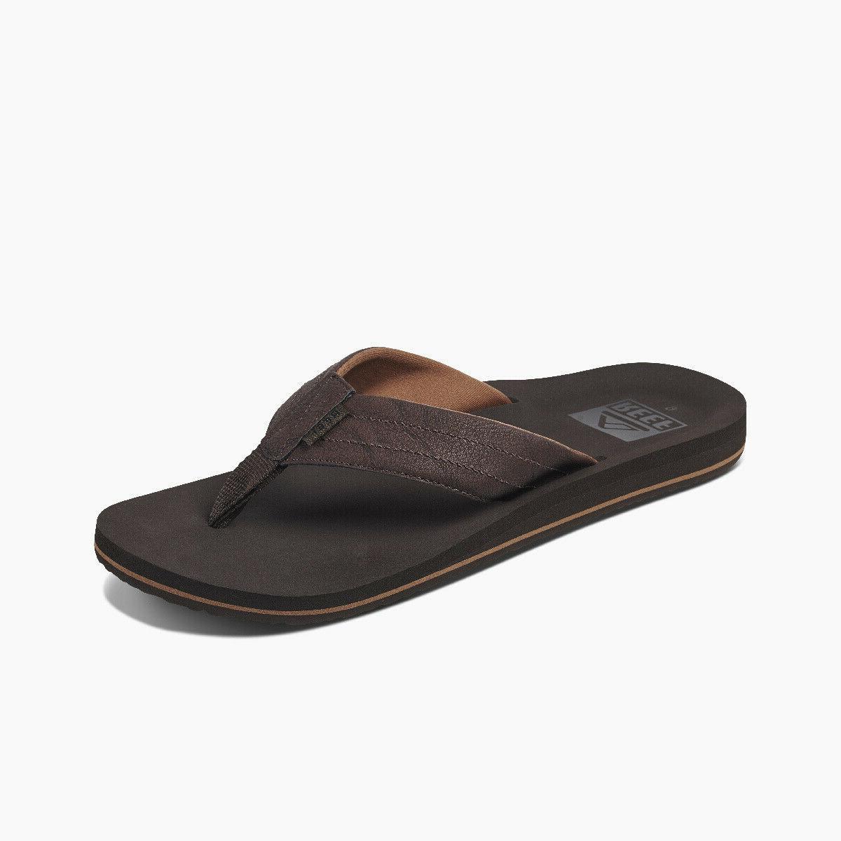 men s twinpin lux flip flops brown