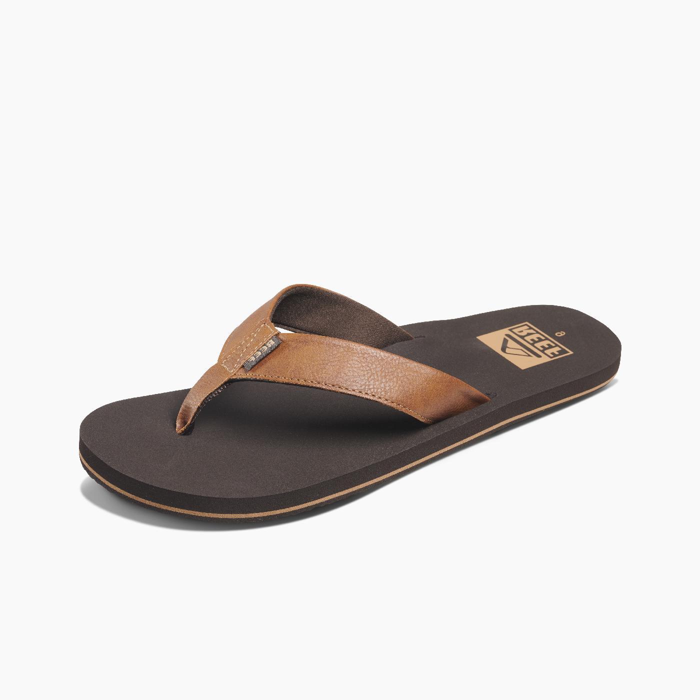 men s twinpin sandals flip flops brown