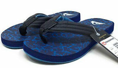 Quiksilver Print Sandals Black Blue 12