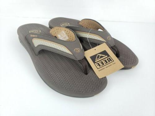 mens flex dark brown tan flip flops