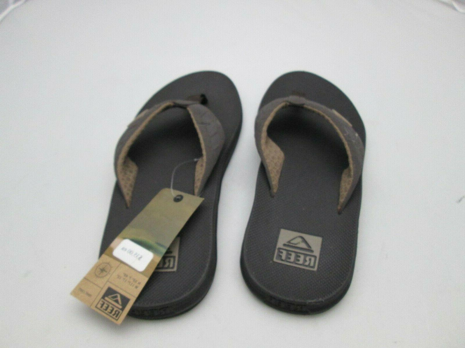 mens flip flops brown 2046 new w