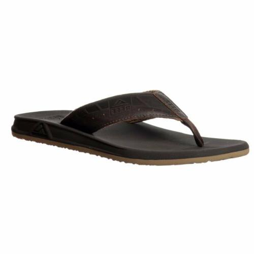mens phantom le flat flip flop leather