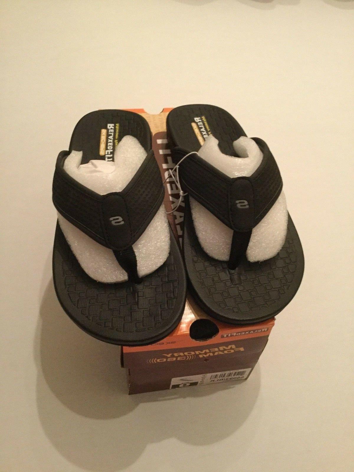mens sandals flip flops memory foam relaxed