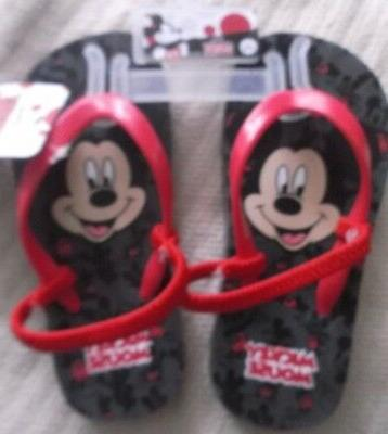 mickey mouse flip flops slip ons large